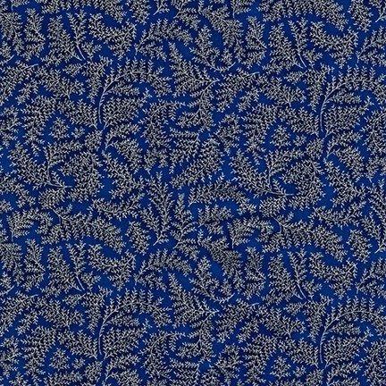 Kaufman Holiday Flourish Metallic 12 APTM-18343-9 Navy