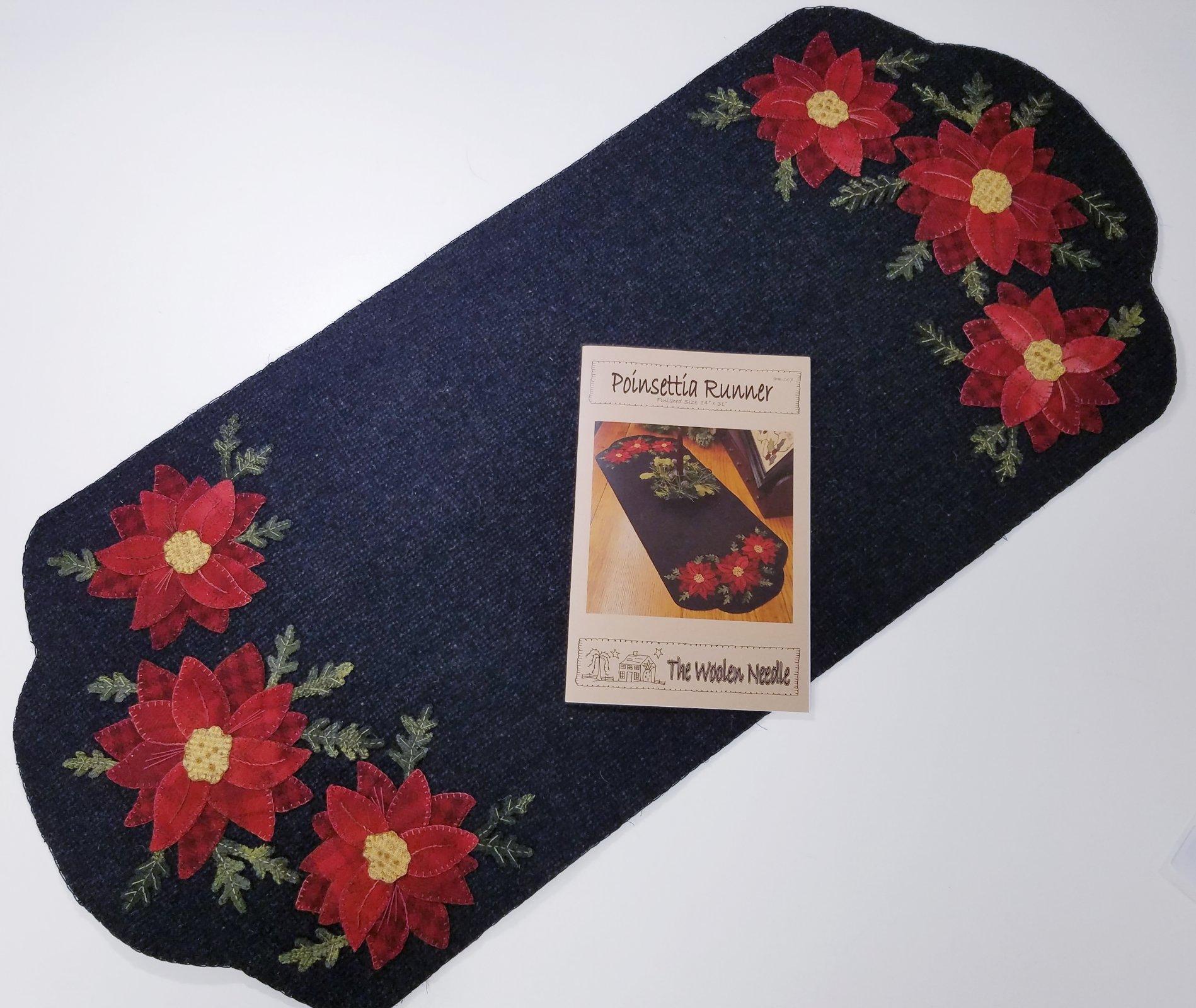 The Woolen Needle Poinsettia Runner Pattern