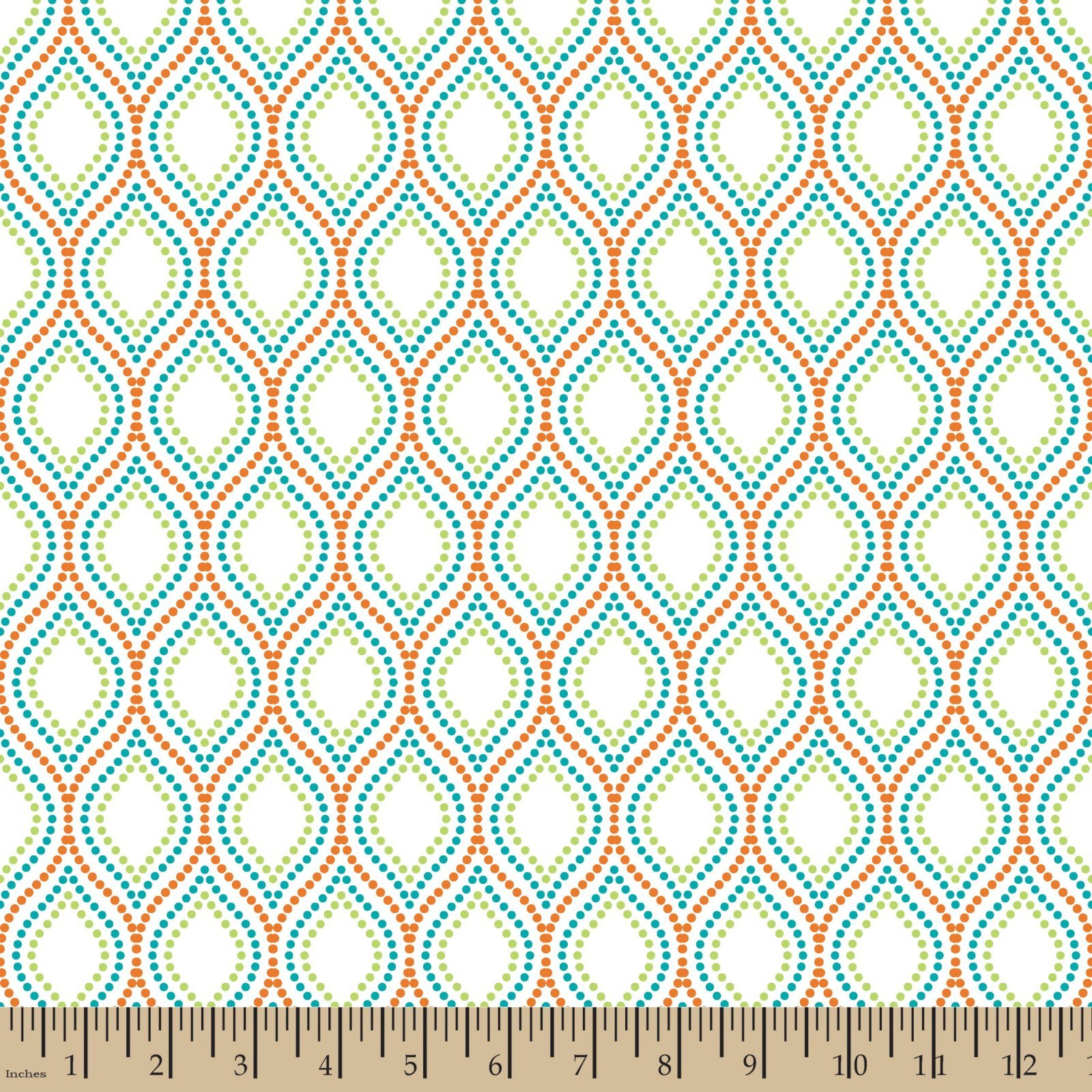 Patrick Lose BoHo Happy Dotted Ogee White