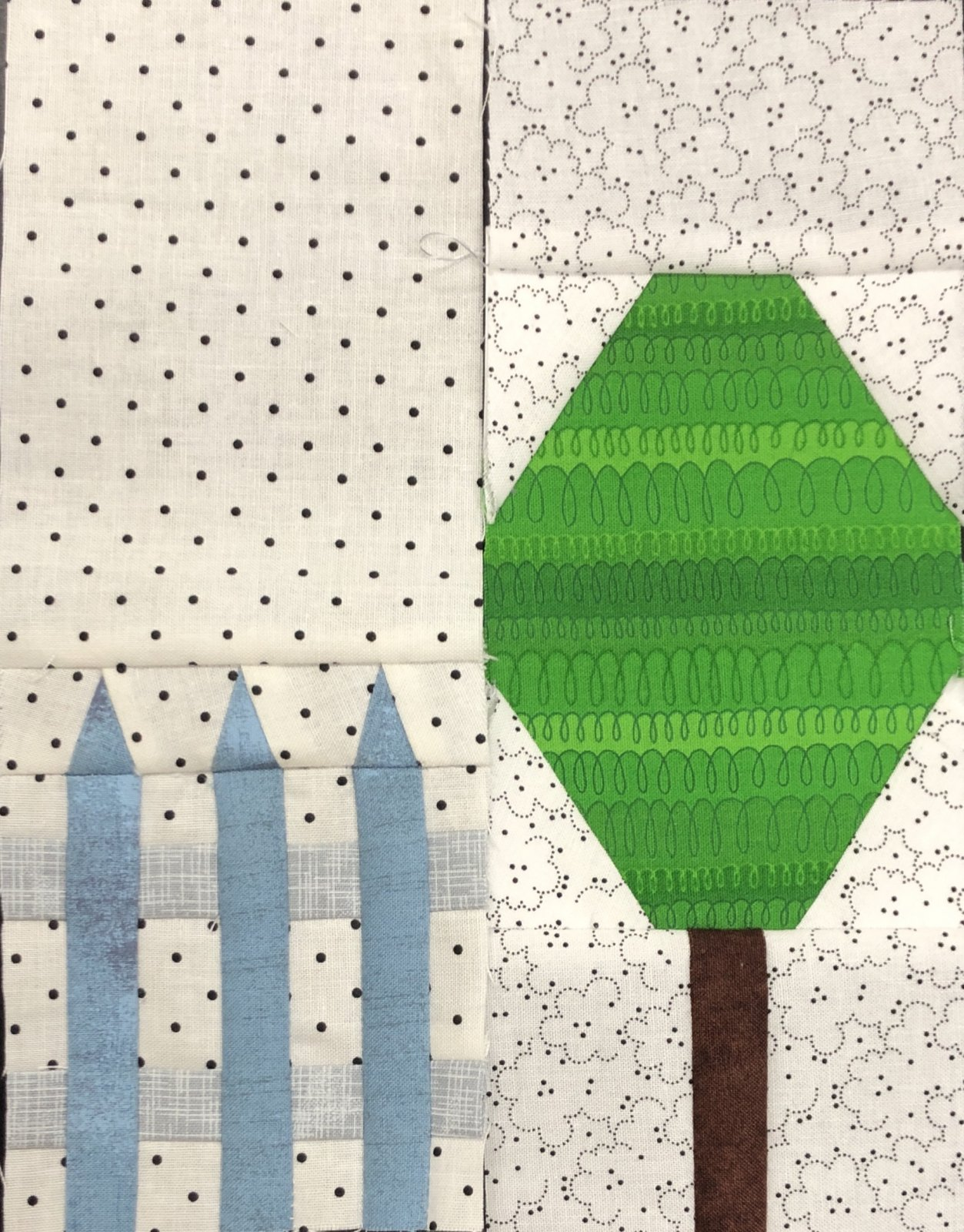 A Mystery Tree and Fence Block 14 Pattern