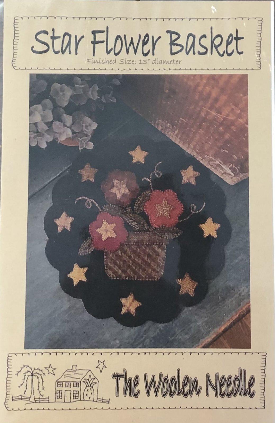 The Woolen Needle Star Flower Basket Pattern