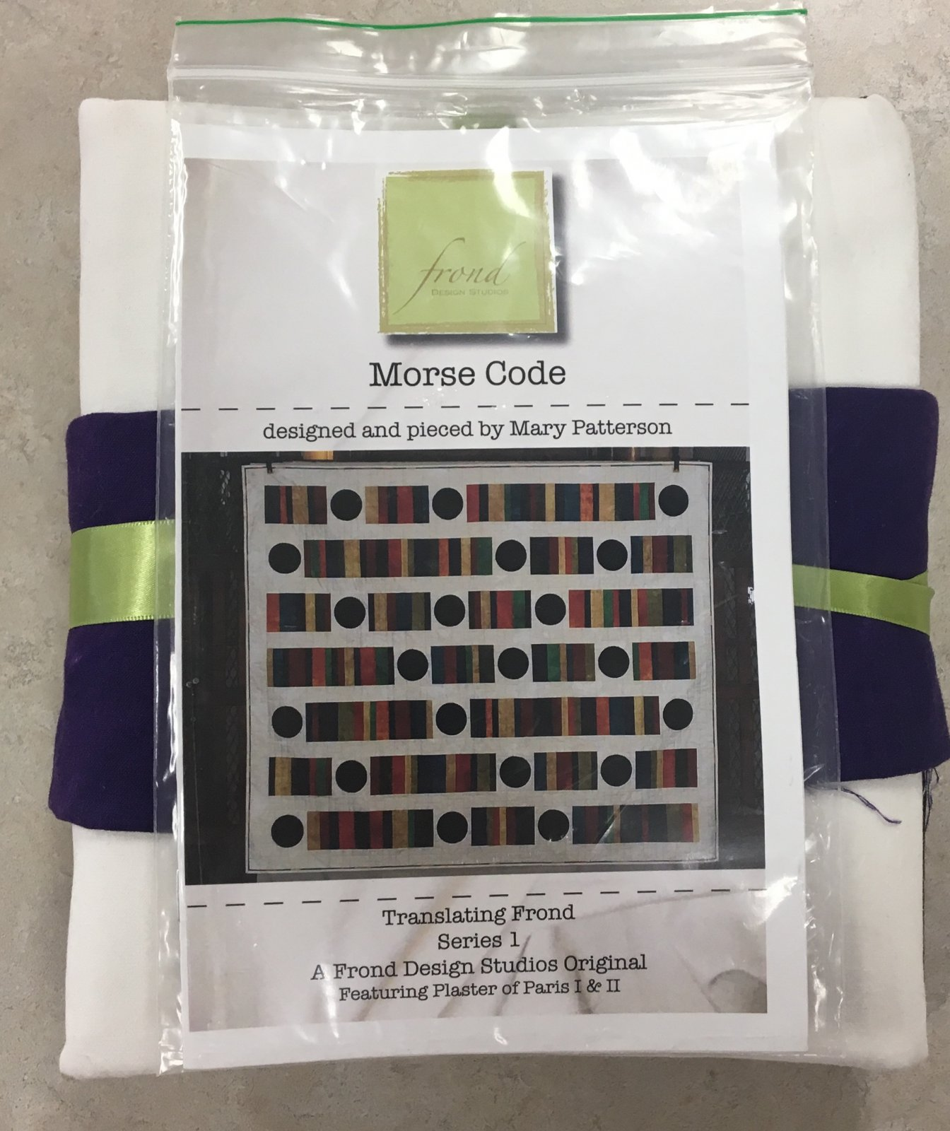 Morse Code Quilt Kit by Mary Patterson for Frond Design Studios