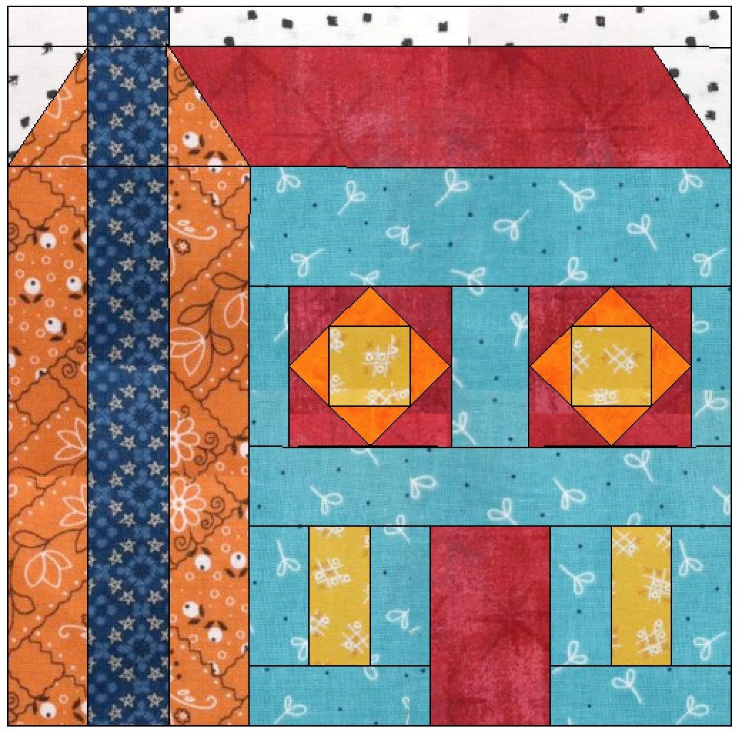 A Mystery Block 6 Chimney House Pattern