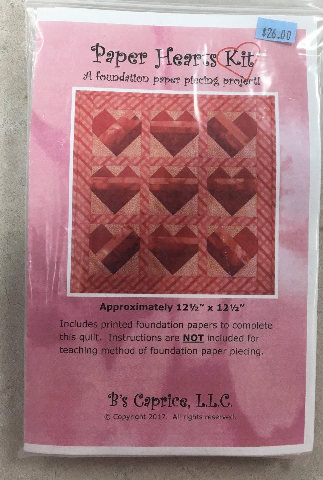 B's Caprice Paper Hearts Kit