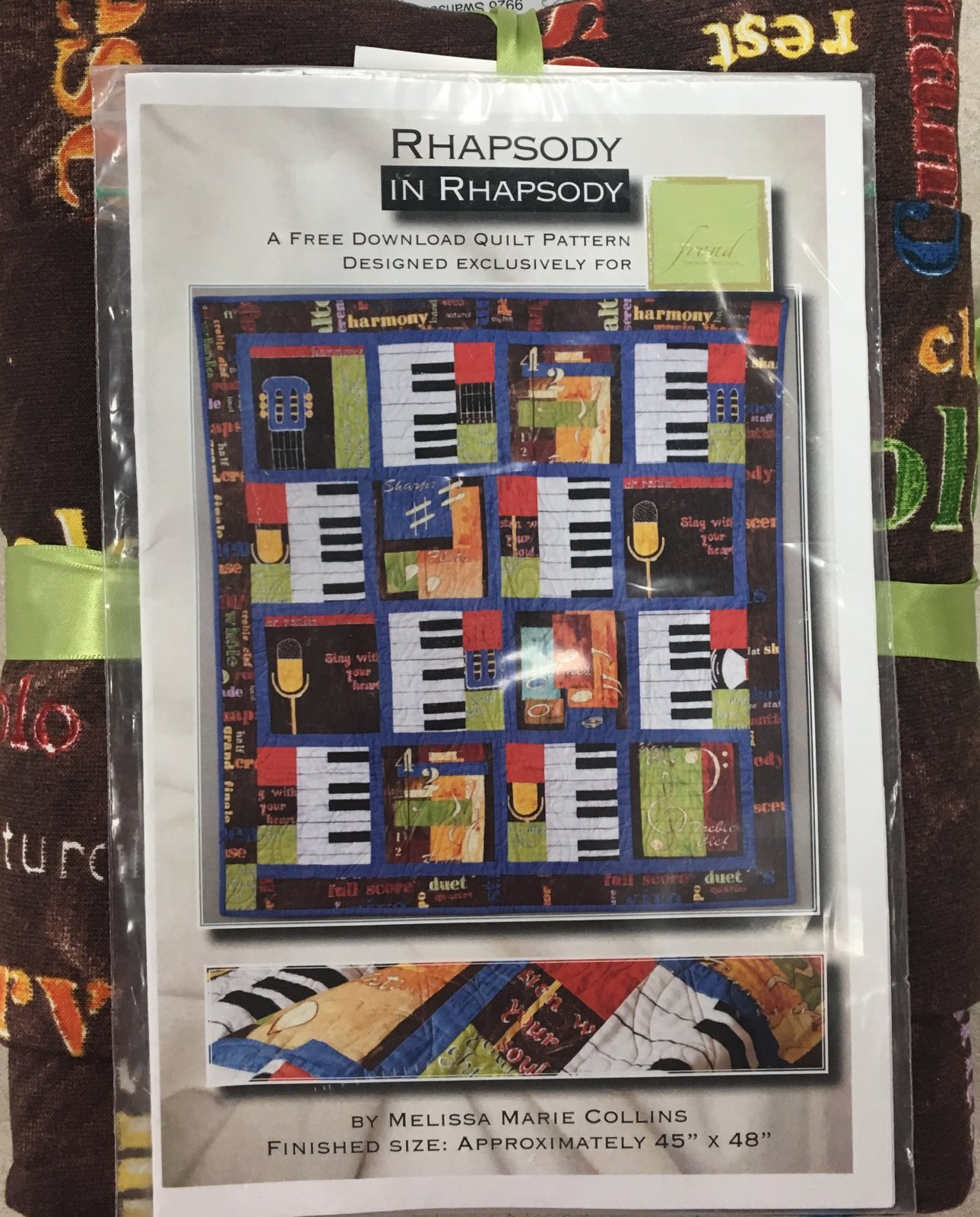 Rhapsody in Rhapsody Quilt Kit by Melissa Marie Collins for Frond Design Studios