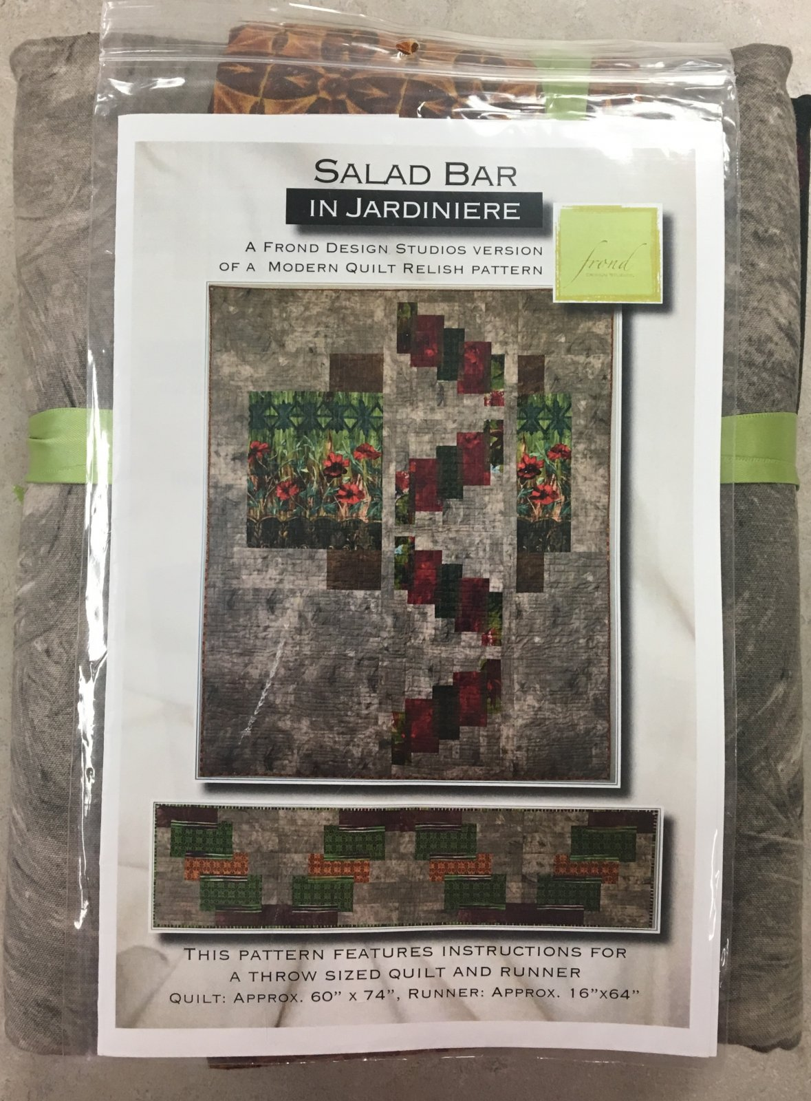 Salad Bar in Jardiniere Quilt and Table Runner Kit by Frond Design Studios