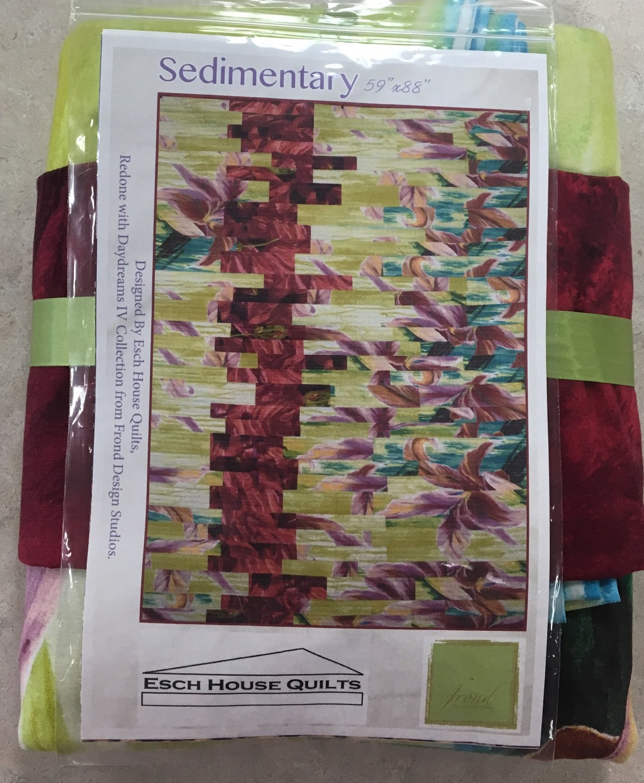 Sedimentary Quilt Kit by ESCH House Quilts for Frond Design Studios