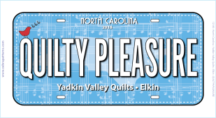 RxR Quilty Pleasure License Plate
