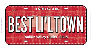 RxR Best Lil Town License Plate