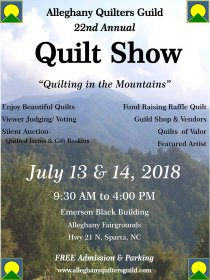 Alleghany Quilters Guild Quilt Show