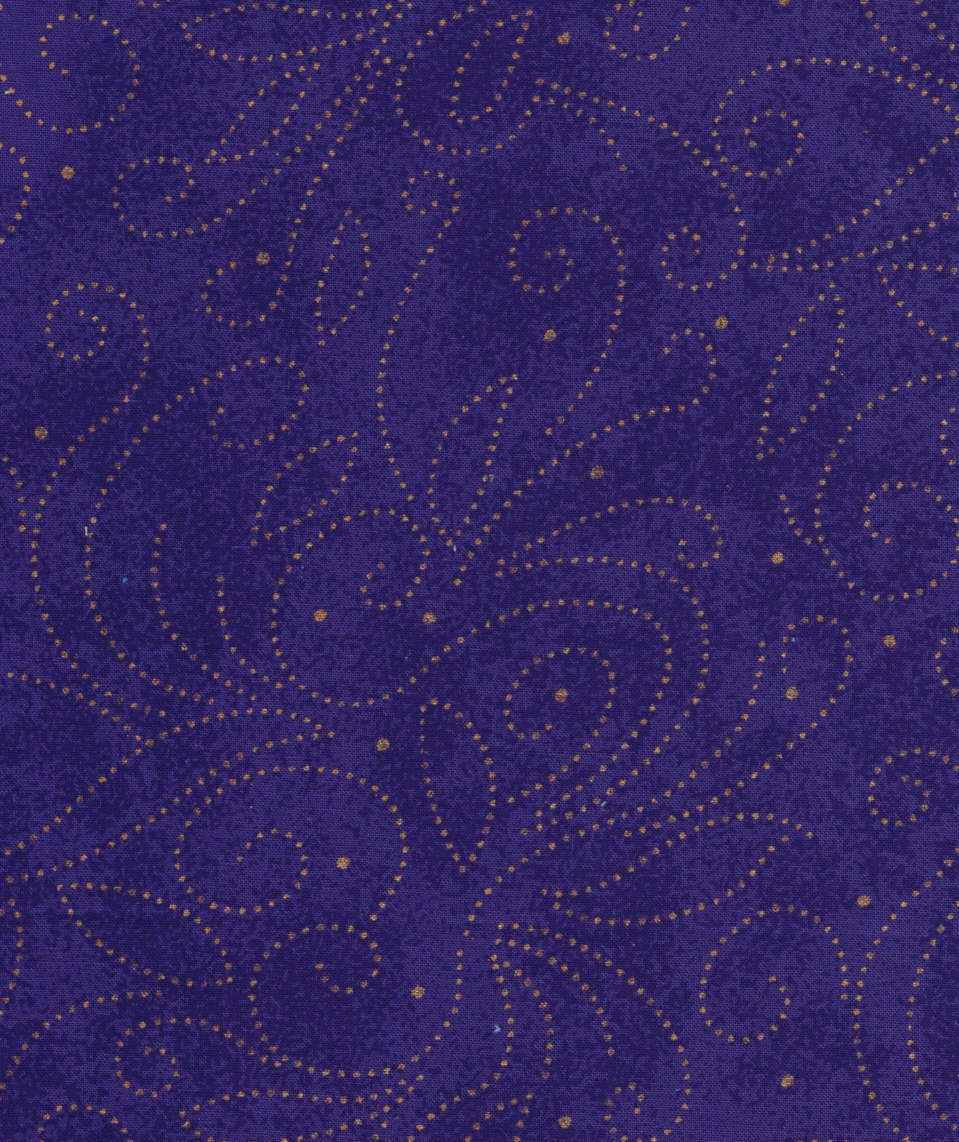 110 IN. SCROLLS COTTON QUILT BACK PURPLE