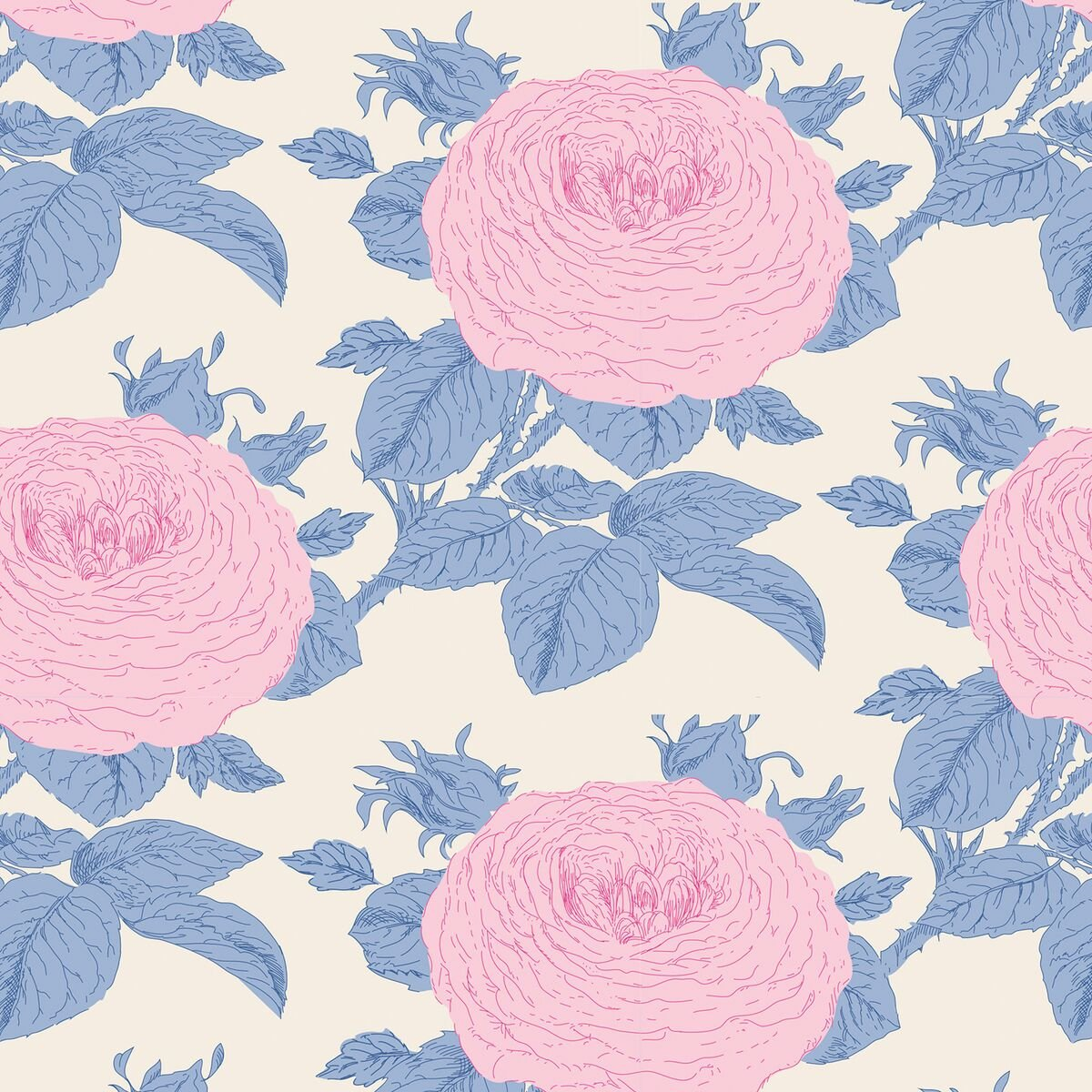Tilda - Grandmas Rose - Blue