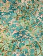 Batik - Green Swirls on Brown