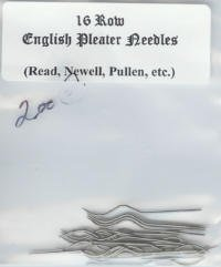 16 Row English Pleater Needles