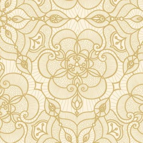 +Luminous Lace - Gold on Cream
