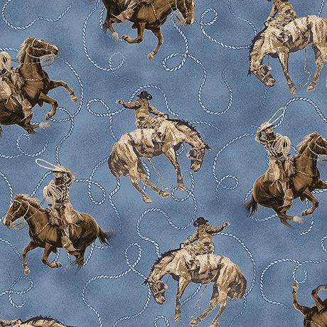 Round Em Up - Blue Horse