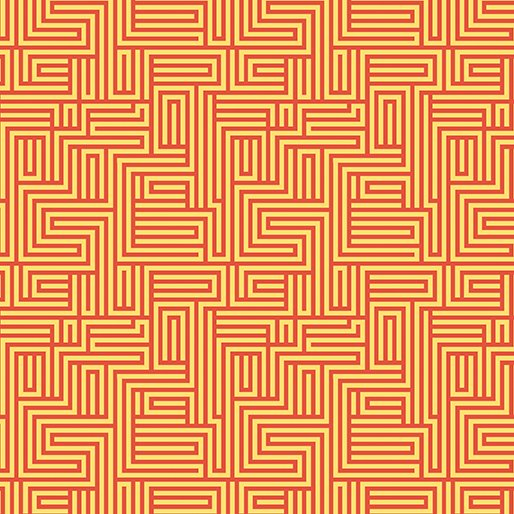 Contempo - Dot Crazy - Maze Orange