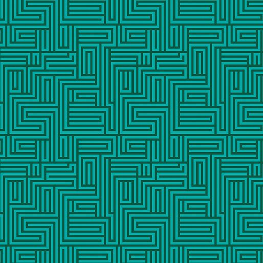 Contempo - Dot Crazy - Maze Teal