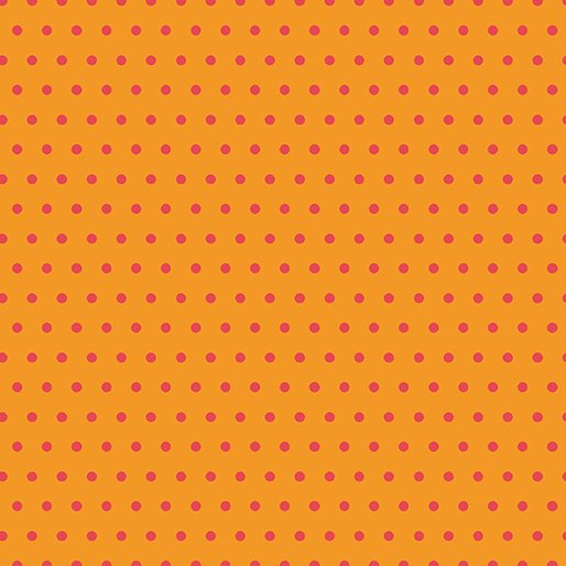 Contempo - Dot Crazy - Small Orange Dot