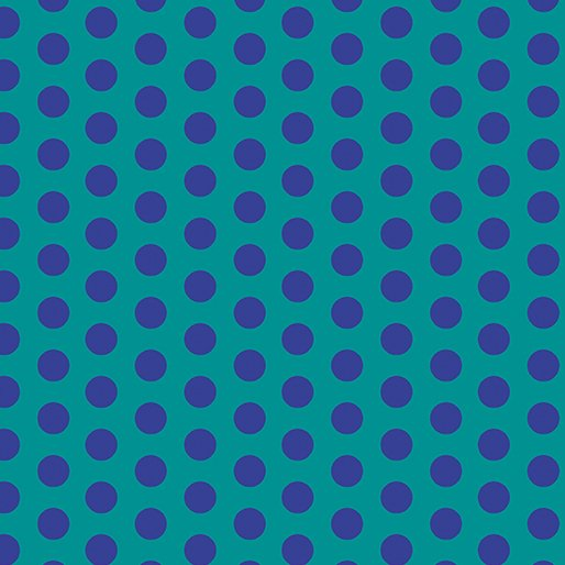 Contempo - Dot Crazy - Teal and Purple