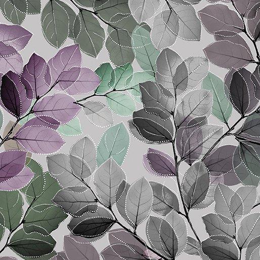 Essence of Pearl - Sheer Leaves Lilac Multi