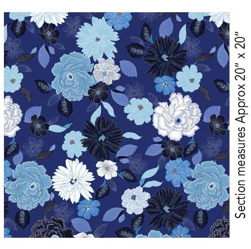 Blue Brilliance Floral - Dk Blue
