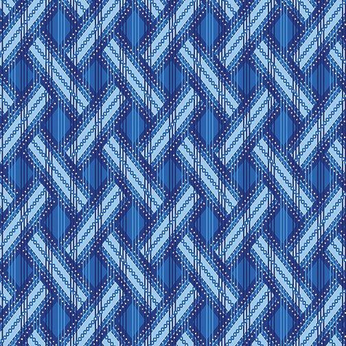 Blue Brilliance Shimmer Basket Weave - Med Blue