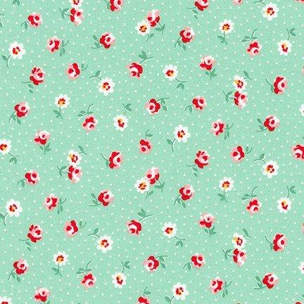 Naptime - 3 Roses on Aloe Green