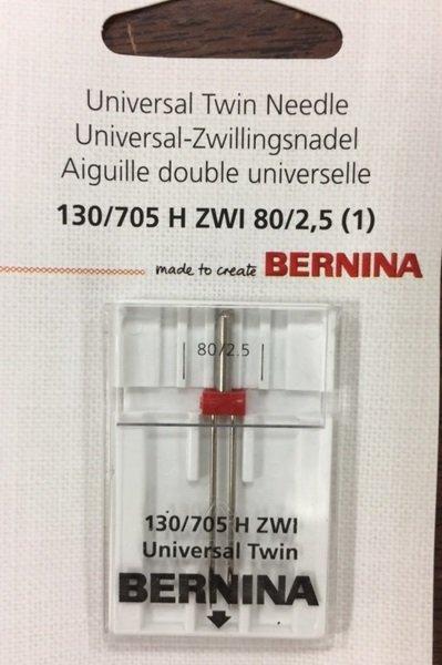 +BERNINA Universal Twin Needle 130/705 H ZWI 80/2.5