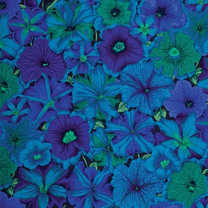 Kaffe Fassett - Petunias Blue