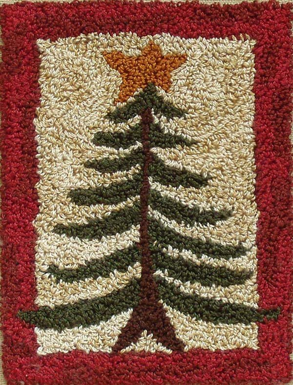 Punchneedle Embroidery Kit - Pine Tree