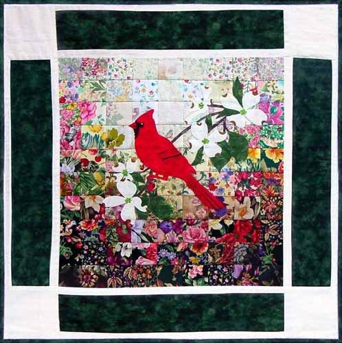 Watercolor Quilts - Cardinal