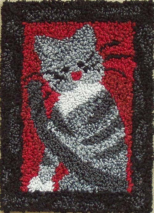 Punchneedle Embroidery Kit - Small Cat