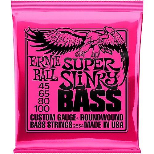 Ernie Ball Roundwound Super Slinky Bass Strings- 45-100