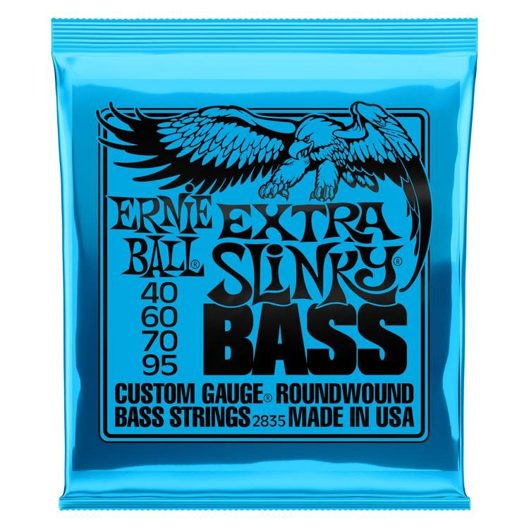 Ernie Ball Roundwound Extra Slinky Bass Strings- 40-95