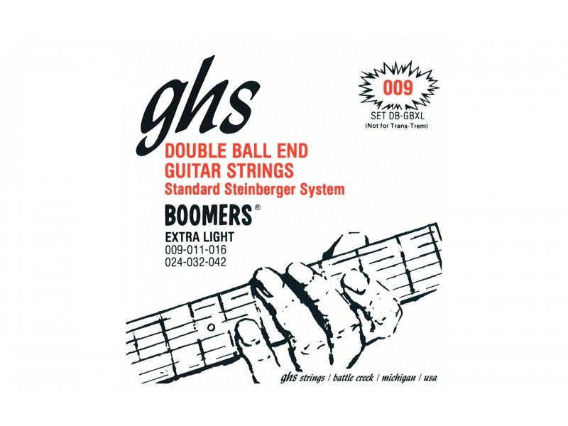 GHS Double Ball End Guitar Strings .009 Extra Light Gauge