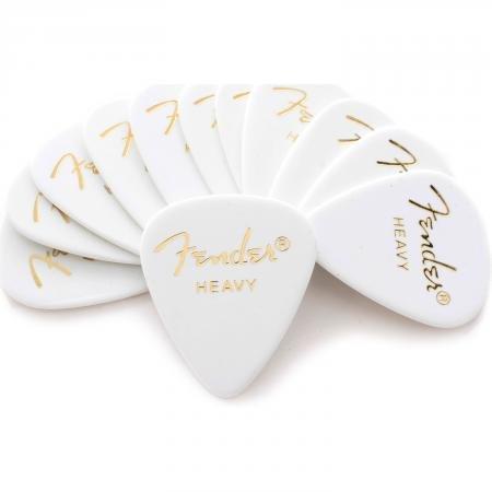 Fender Classic Celluloid Picks 351 - White Heavy (12 Pack)