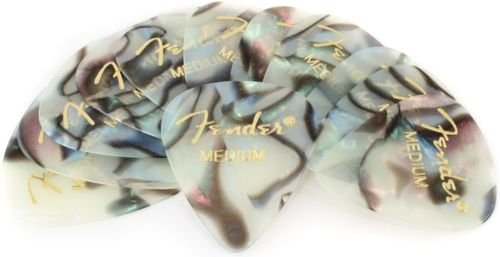 Fender Premium Celluloid Picks 351 - Abalone Medium (12 Pack)