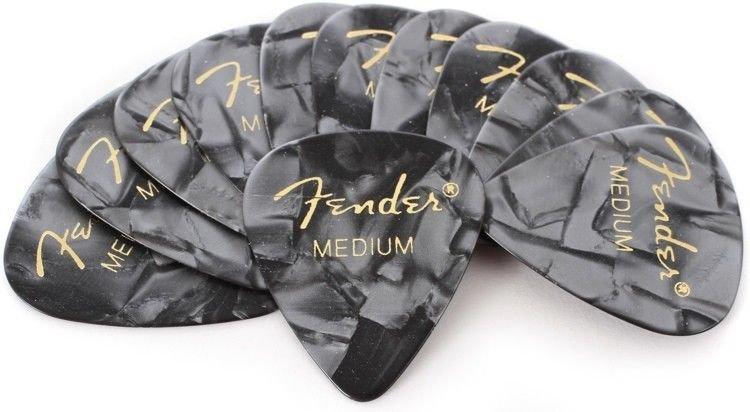 Fender Premium Celluloid Picks 351 - Black Moto Medium (12 Pack)