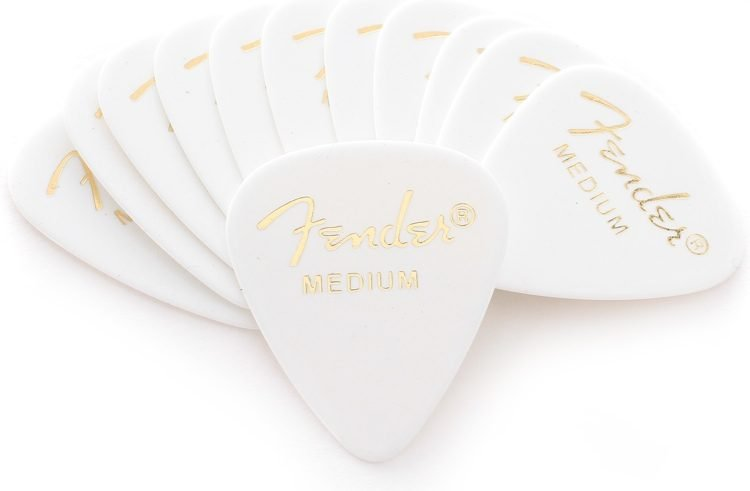Fender Classic Celluloid Picks 351 - White Medium (12 Pack)