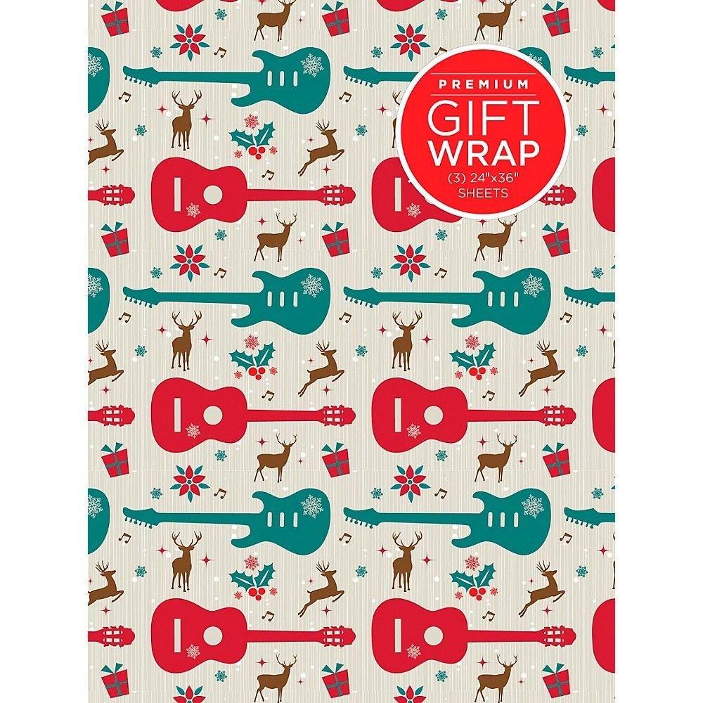 Hal Leonard Guitar & Reindeer Wrapping Paper