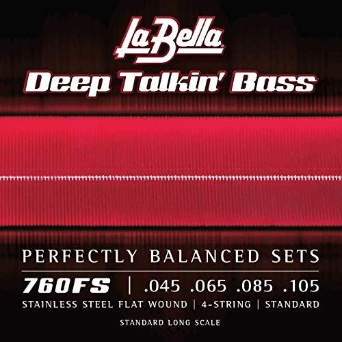 La Bella 760FS Stainless Steel Bass Guitar Strings,  Standard Tension
