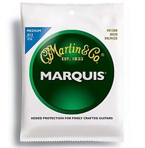 Martin Marquis Medium Acoustic Guitar Strings- 13-56
