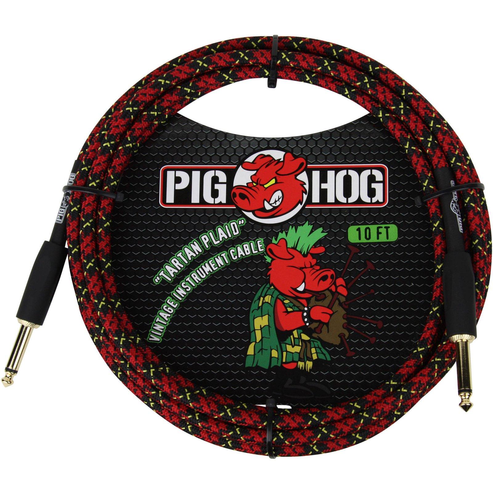 Pig Hog 10ft Tartan Plaid Cable