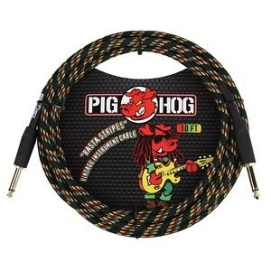 Pig Hog 10ft Rasta Instrument Cable