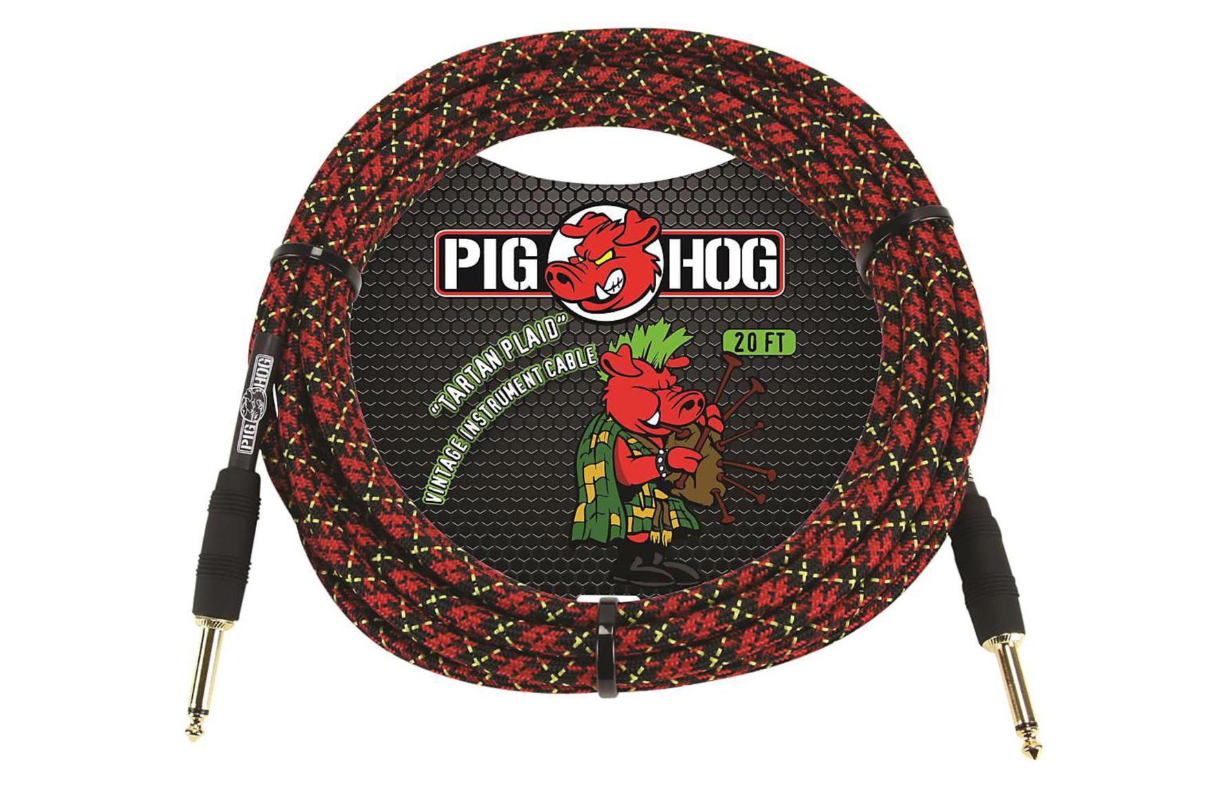 Pig Hog 20ft Tartan Plaid Instrument Cable