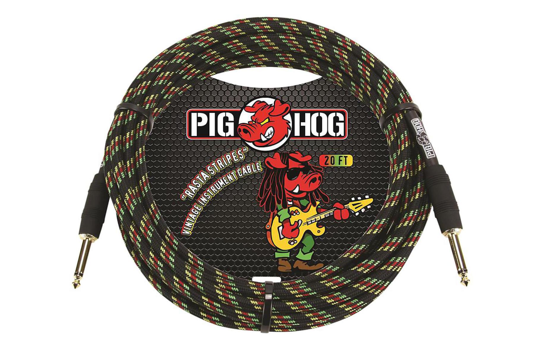 Pig Hog 20ft Rasta Instrument Cable