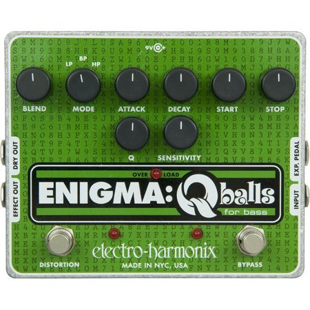 Electro-Harmonix Enigma Qballs Envelope Filter Bass Effects Pedal w/ Power Supply