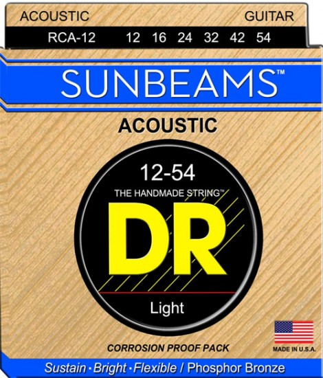 DR Sunbeam Acoustic Guitar Strings- 12-54