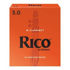 Rico by D'Addario Bb Clarinet Reeds, Strength 3, 10-pack